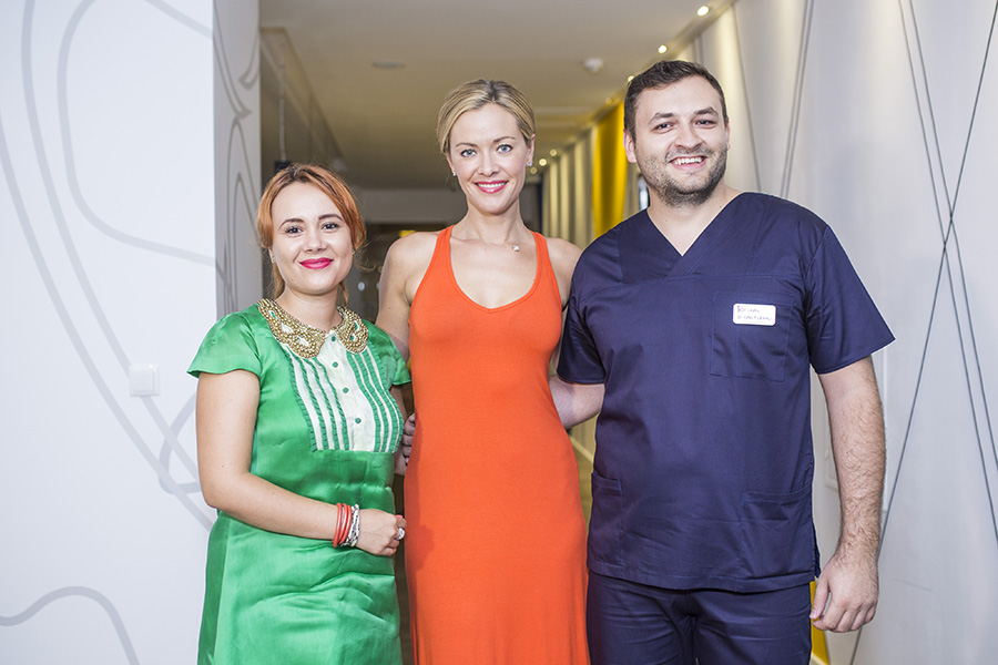 Kristanna Loken, the actress from Terminator 3, at dr. Leahu's
